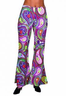 Dames hippie broek funky kleuren