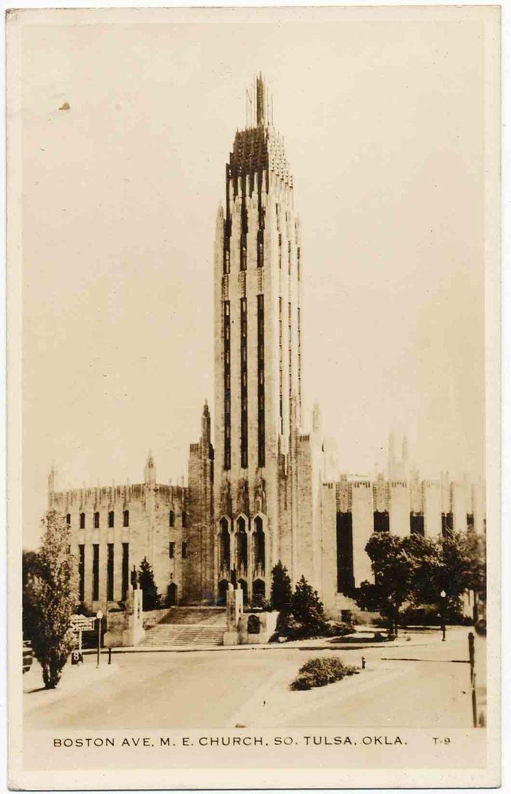 Boston Avenue Methodist Episcopal Church Tulsa OK RPPC