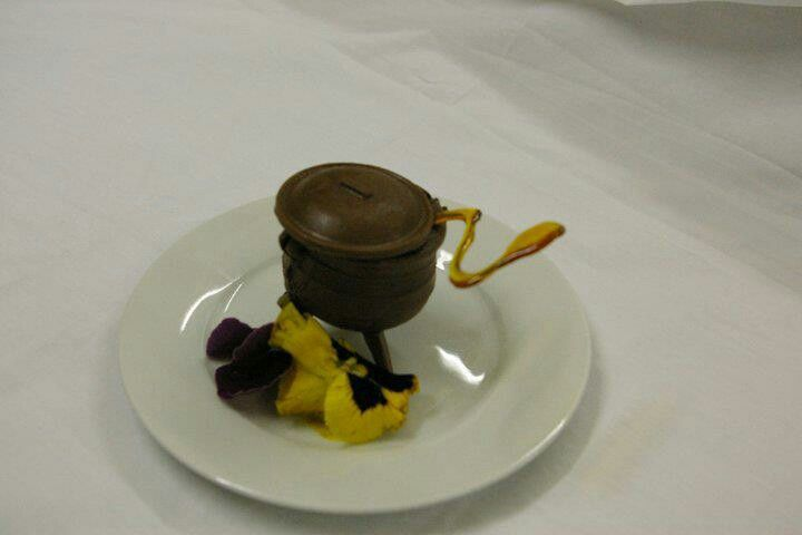 Chocolate pot with choc mint mousse made by ARG's Mouthwatering Delghts