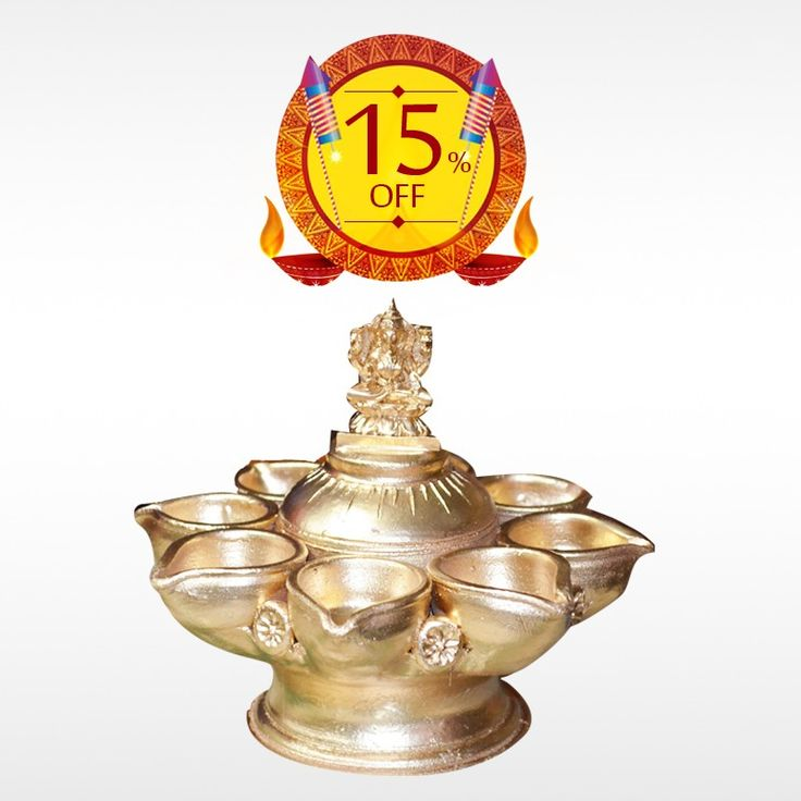 Buy authentic Multiple #Deepams  with Lakshmi this #Diwali  and make the celebration more unique. Get 15% off on #DiwaliDeepam .  #BringHomeFestival