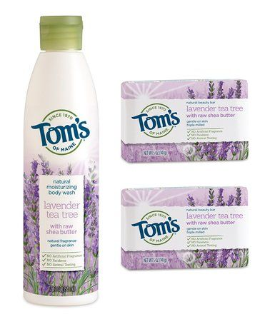 Love this Lavender Tea Tree Body Wash and Soap - Set of Three on #zulily! #zulilyfinds