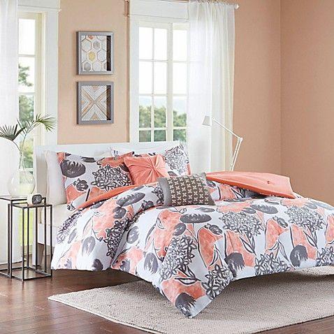 Intelligent Design Marie 5-Piece Full/Queen Comforter Set in Coral