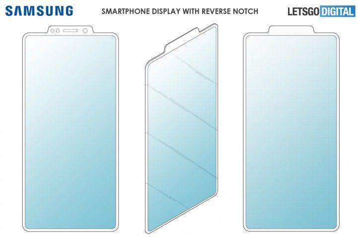 Samsung Patents A Unique Reverse Notch Display