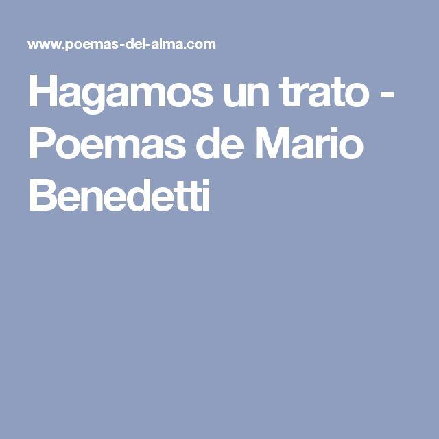 Hagamos un trato - Poemas de Mario Benedetti