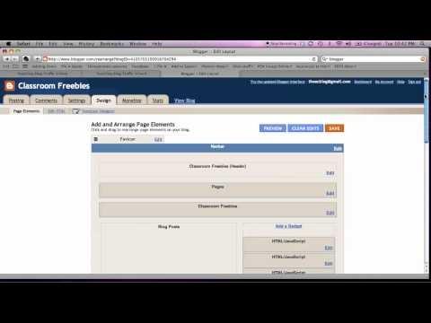 Adding a Social Media Toolbar on a Blogger Blog  http://www.TeachingBlogTrafficSchool.com