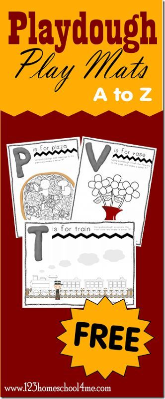 Alphabet Playdough Play Mats - These free printable alphabet worksheets are lots of fun for Toddler, Preschool and Kindergarten age kids. Not only will they practice making alphabet letters, they will also use playdough creatively to complete pictures. These are SO cute!