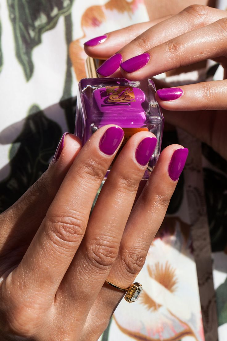 Brighten up your manicure with a fuschia pop of color!