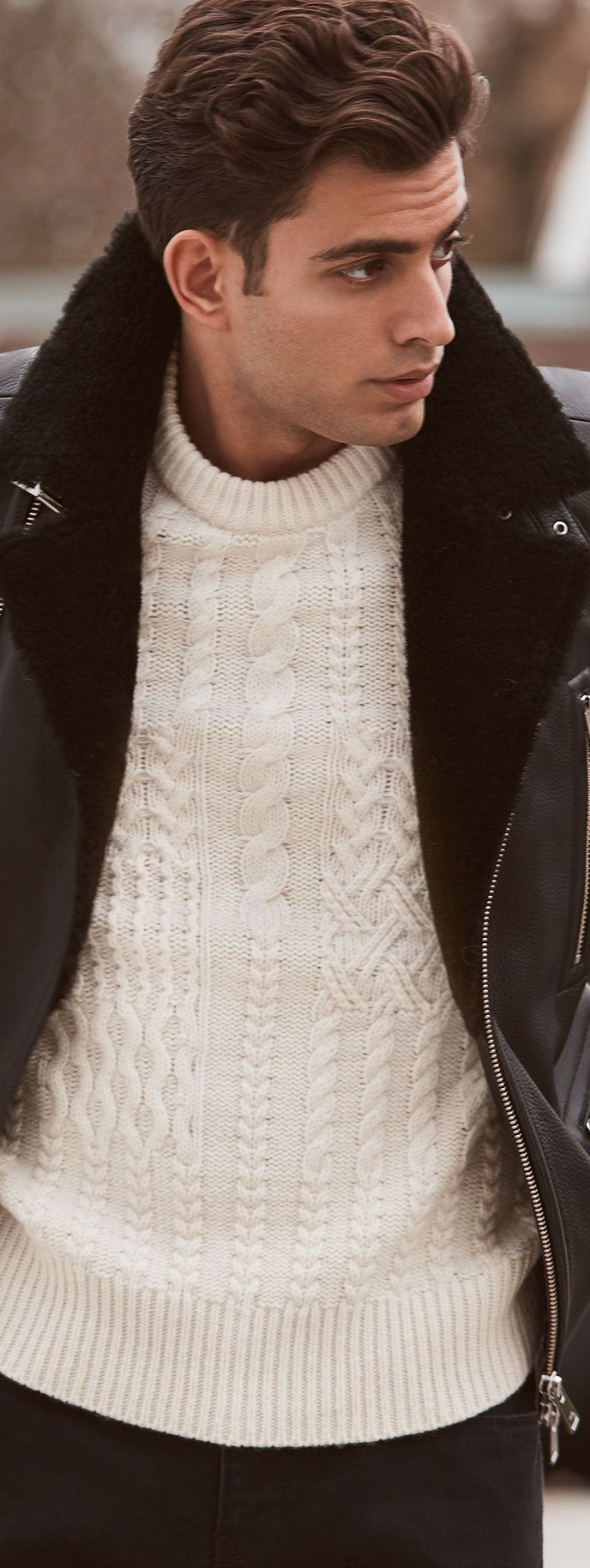 Men's Fashion | Axel Biker Jacket & Lambert Sweater