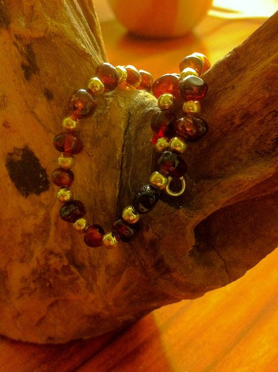 Baltic Amber Anklet/Bracelet by BalticWonders on Etsy