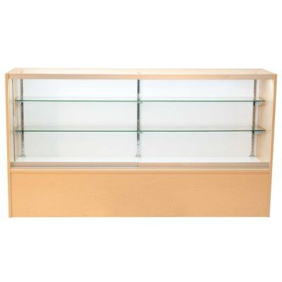 """KC Store Fixtures Front Opening Glass Showcase with LED Light Finish: Cherry, Size: 38"""" H x 70"""" W x 18"""" D"""
