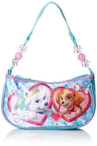 Nickelodeon Girls' Paw Patrol Beaded Handbag Measures 8.25 inch height x 4.75 inch width x 2.25 inch depth Beaded handle Satin polyester https://boutiquecloset.com/product/nickelodeon-girls-paw-patrol-beaded-handbag/