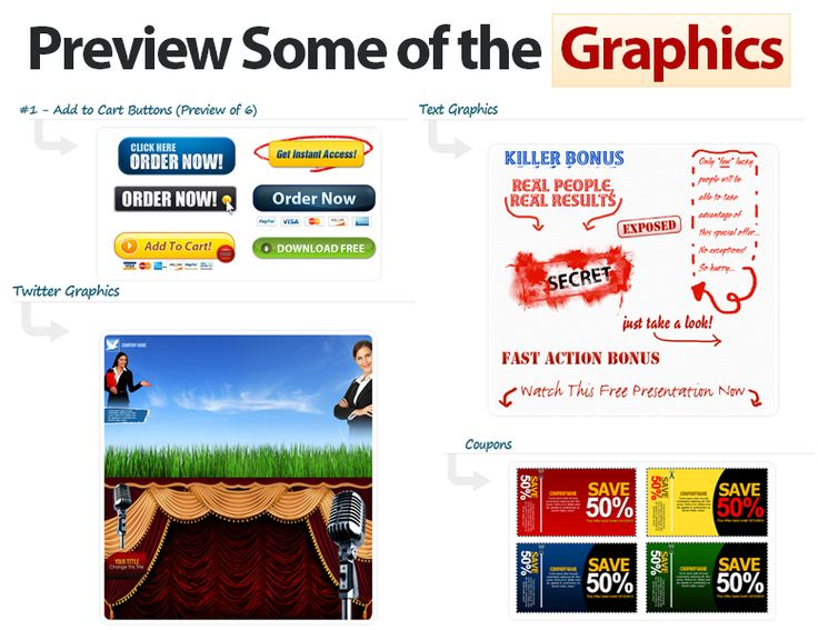Websites NEED graphics, as they help to INCREASE visitor activity and conversions!