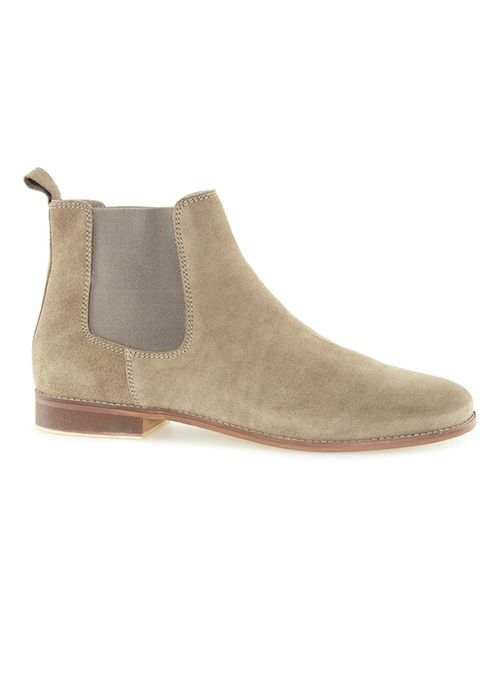 Gray Suede Chelsea Boots - TOPMAN USA