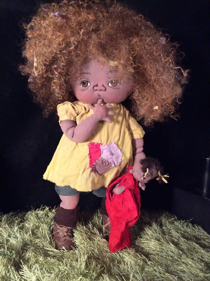 PEACHES  One of a kind toddler  by doll artist Jan Shackelford  janshackelford@dollsbyjanshackelford.com