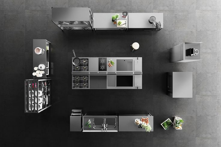 Product Visualisation of professionalkitchens for advertsing purposes. Images made for Hangar Design ...