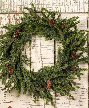 Loving this 24'' Hemlock Wreath on #zulily! #zulilyfinds