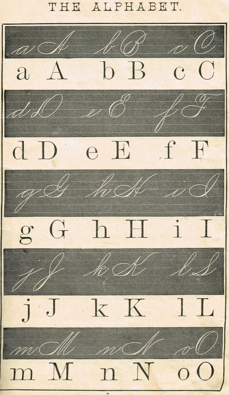 Alphabet School Primer Pages - Free Printable Antique Graphics from KnickofTime.net