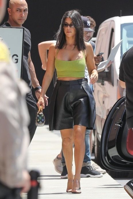 28f6647950be Kourtney Kardashian wearing Louis Vuitton Mini Multicolore Speedy Hl Bag