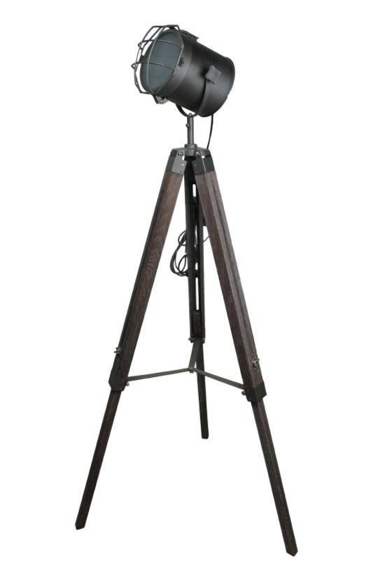 Standstrahler old color Industriele staande lamp Driepoot Tripod Filmlamp