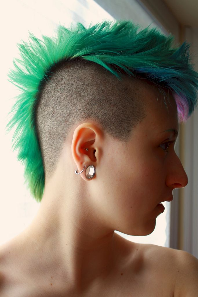 17 Best Images About Colored Mohawks On Pinterest Shaved