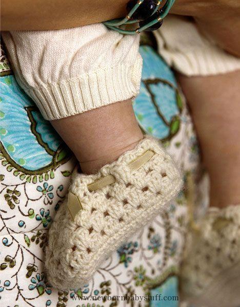 Crochet Baby Booties Crocheted baby shoe