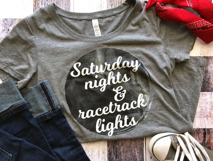 Fashionable Ladies Dirt Track Racing Shirt White / Saturday Nights & Racetrack Lights