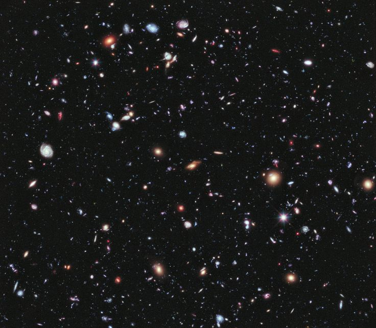 Hubble's Extreme Deep Field- Called the eXtreme Deep Field, or XDF, the photo was assembled by combining 10 years of NASA Hubble Space Telescope photographs taken of a patch of sky at the center of the original Hubble Ultra Deep Field.