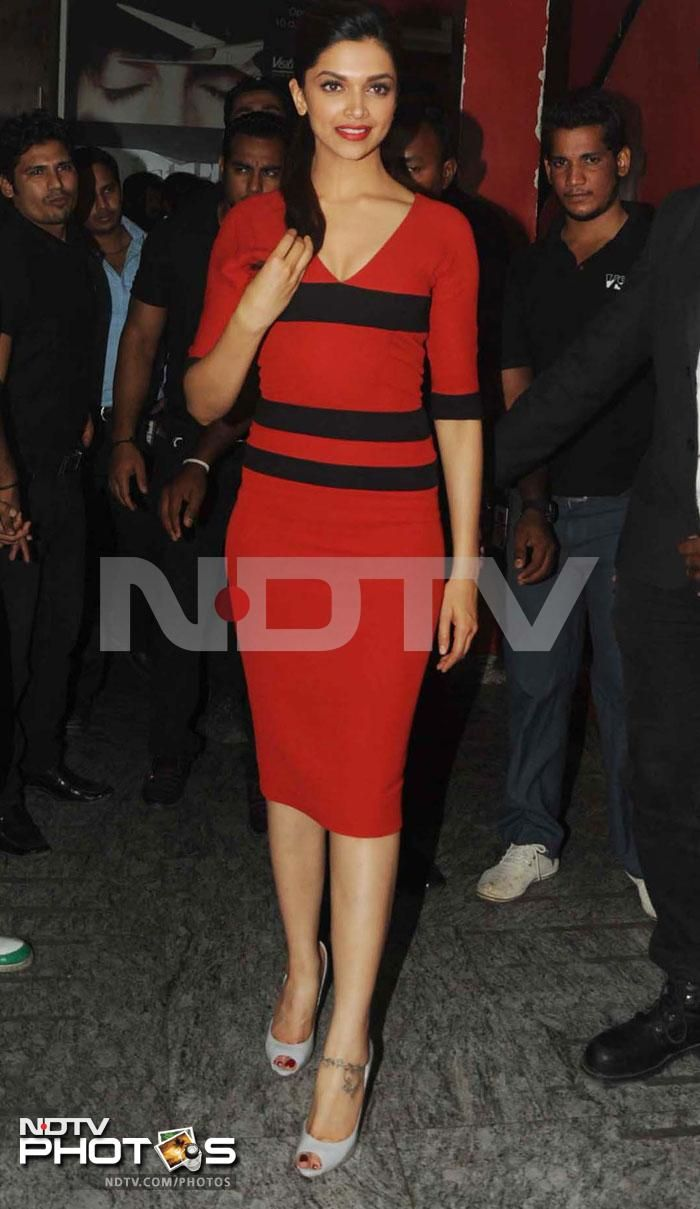 Premiere people: It was a running start for Race 2, the sequel to Abbas-Mustan's 2008 hit film. Leading the Bollywood fashion pack at the star-studded premiere was Deepika Padukone who was stunning in a bright red dress.