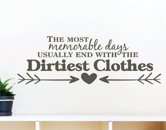 Laundry room decal laundry room decals laundry decal laundry decals the most memorable days usually end with the dirtiest clothes