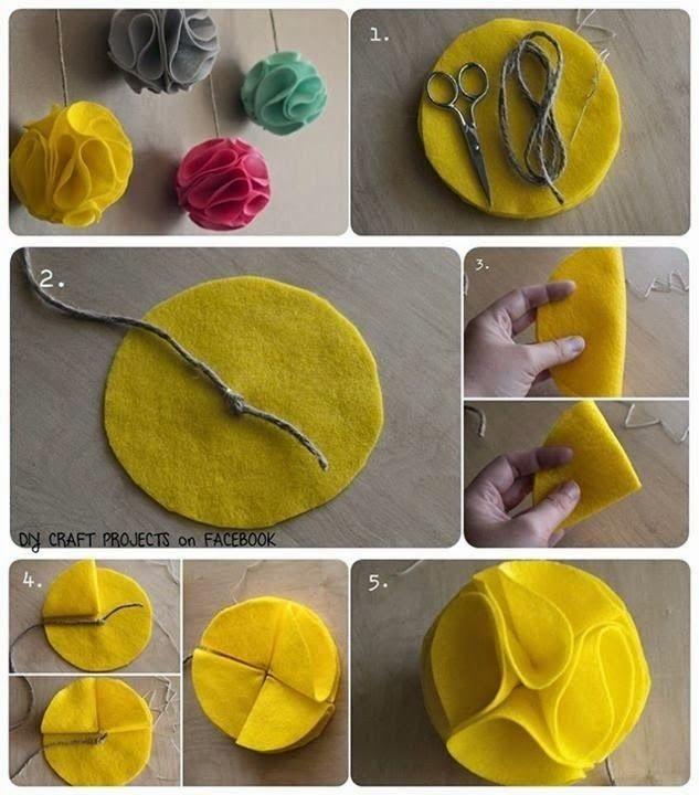 Paps,Moldes,E.V.A,Feltro,Costuras,Fofuchas 3D: bola de natal de feltro
