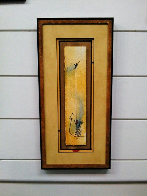complete custom framing design for a contest from
