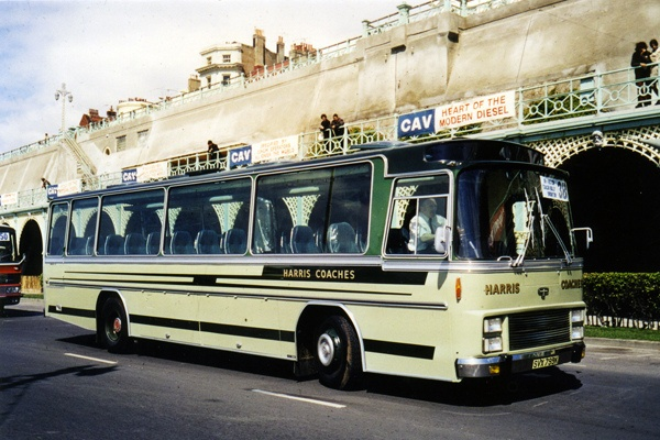 Harris of Grays in Essex  Van Hool Vistadome Leyland Leopard SVX 799K Brighton Coach Rally 1973 by LVA45, via Flickr
