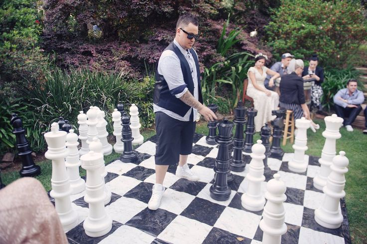 Wedding party chess competition!