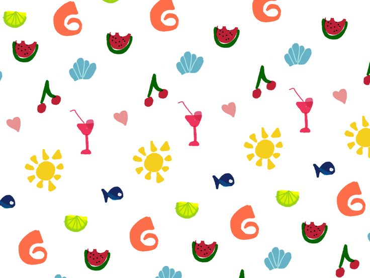 Summer is Not over!  #digitalart #xristinapDoesHerThings #fiftythree #pencil53 #madewithpaper #wallpaper #pattern
