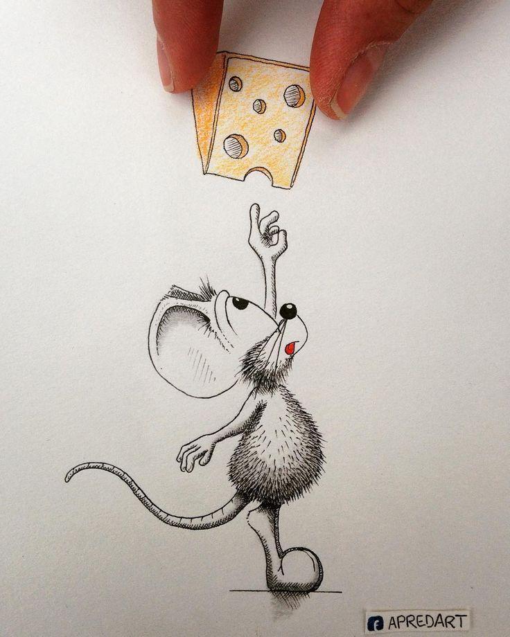 Рисунки мышки смешные