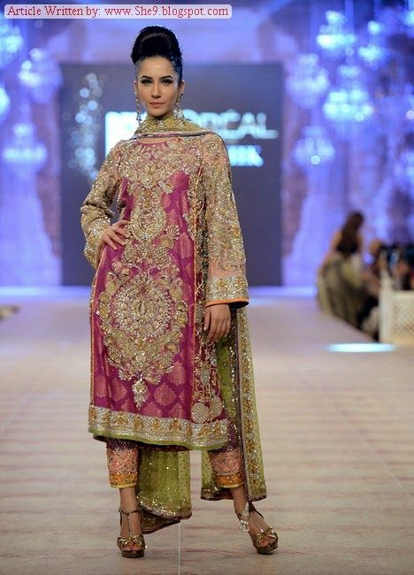 Nomi Ansari Bridal Collection at PFDC L`Oreal Paris Bridal Week 2014 - She9 | Change the Life Style
