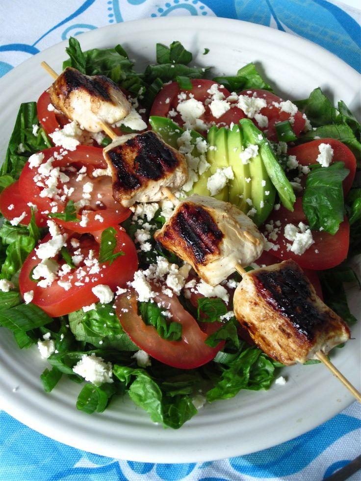 chicken kebab salad | Dinner | Pinterest