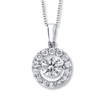 Diamonds in Rhythm 1 1/2 ct tw Necklace 14K White Gold