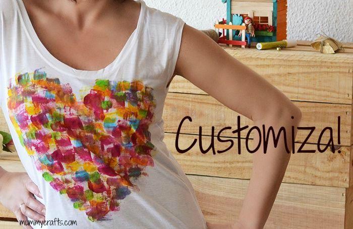 Como customizar una camiseta con pintura textil
