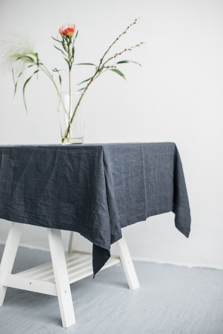 FREE SHIPPING | Washed linen graphite grey color tablecloth, Soft linen tablecloth, Rustic linen tablecloth, Natural linen tablecloth by Linenfox on Etsy https://www.etsy.com/nz/listing/516026329/free-shipping-washed-linen-graphite-grey