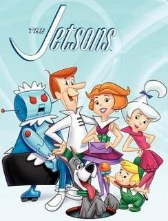 """The Jetsons Cartoon Show debut 1962  """"The show foreshadowed many of the things we take for granted in the modern age, like treadmills, cell phones and the internet. Surely the flying cars will get here soon; and having a moving walkway in every room could come in handy..."""""""