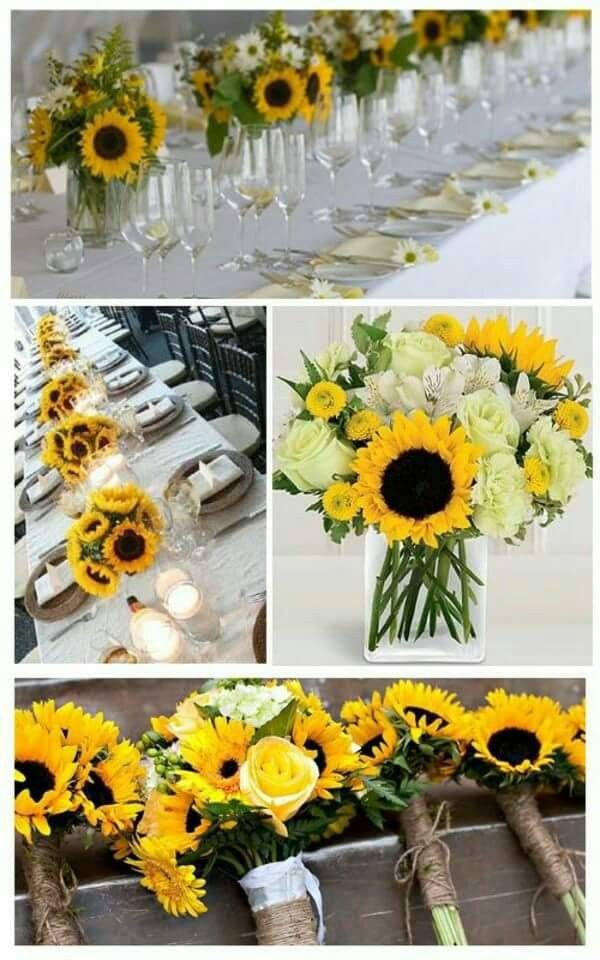 Sunflowers And White Roses Sunflower Wedding Wedding Bouquets