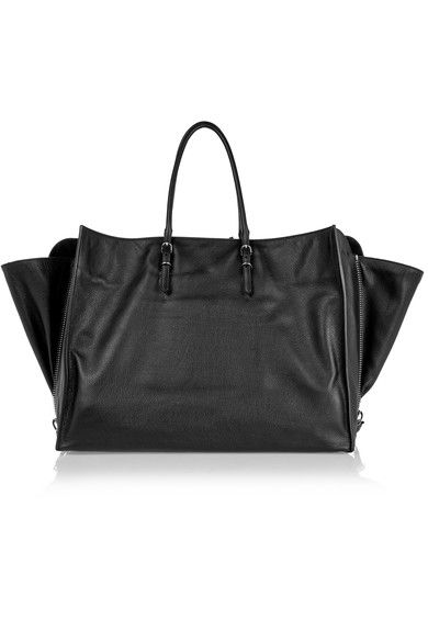 Balenciaga - Papier A4 Zip Around Textured-leather Tote - Black - one size