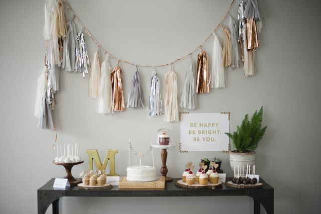 Malia's Rustic Glam 1st Birthday Party By Melissa Oholendt Photography/Fawn Over Baby