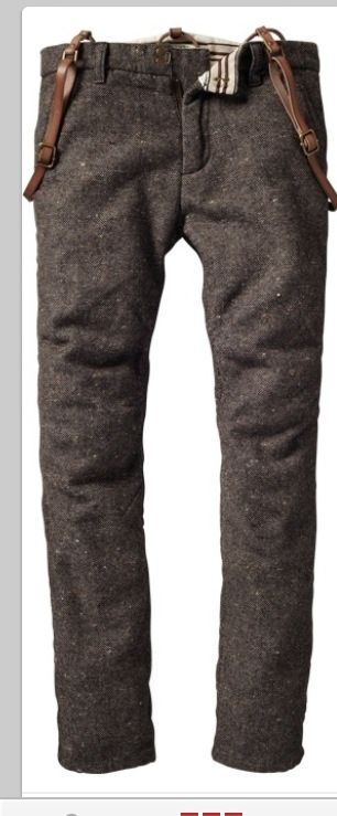 These are the exact trousers I've been looking for. Now just need to find out who makes them and whether they're five pounds or not.