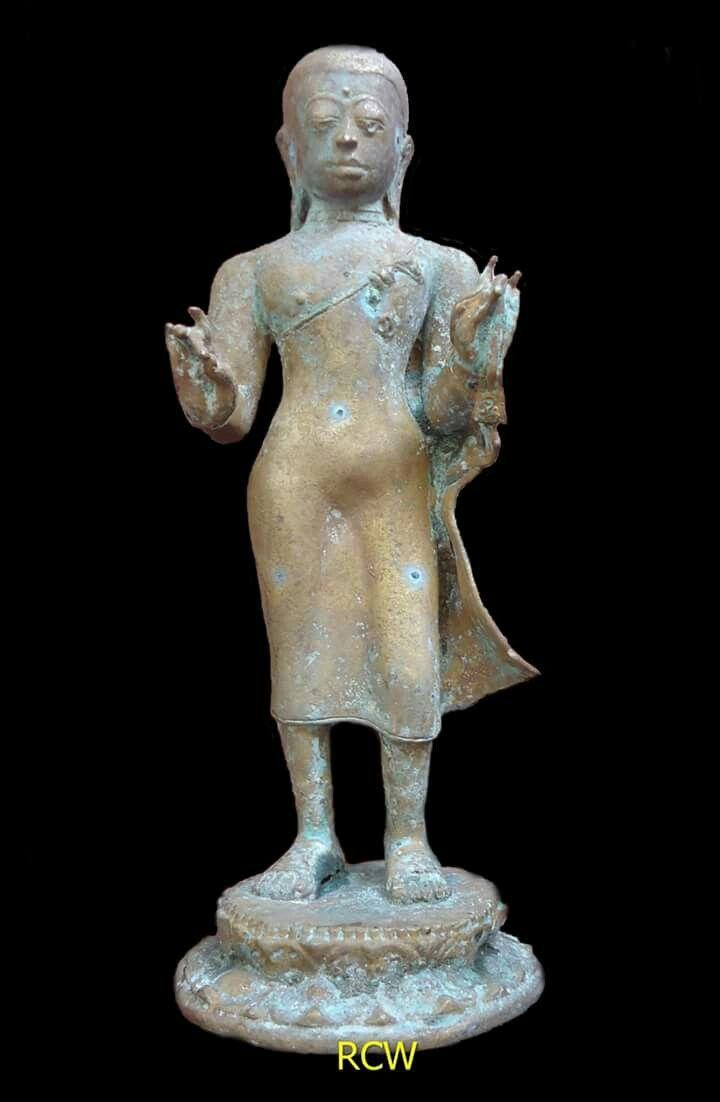Buddha, bronze, found in Keleyan village-Socah-Bangkalan regency-Madura island-Indonesia, H 29cm; L 10cm; W 9cm, estimate circa 16th-17th century.