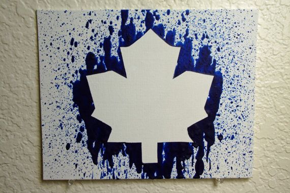 Toronto Maple Leafs Melted Crayon Art by MikeAndKatieMakeArt
