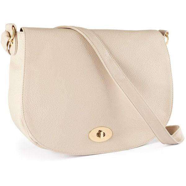 H&M Shoulder bag ($11) ❤ liked on Polyvore featuring bags, handbags, shoulder bags, purses, accessories, bolsas, h&m, light beige, shoulder handbags and pink hand bags