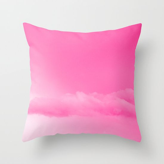Pink Cotton Candy Clouds Throw Pillow (With images ...