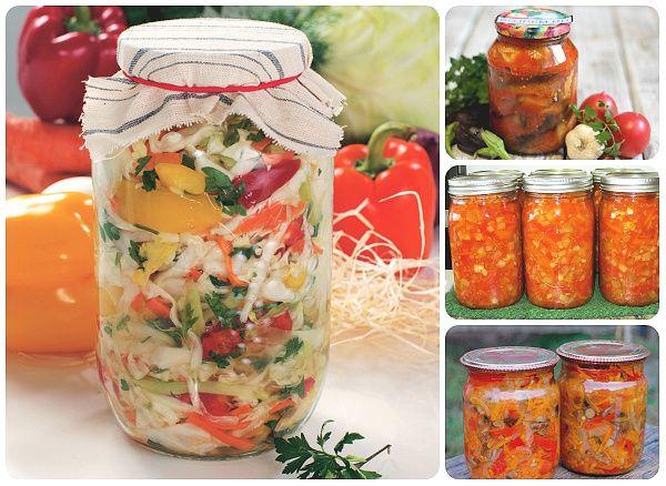 Салаты из капусты/помидоров/перца/ баклажанов рецепты на зиму | Печем и варим